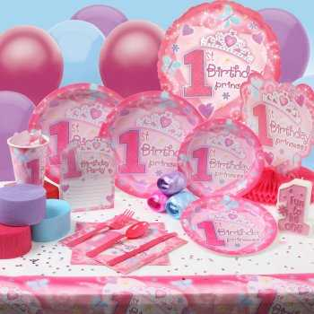 Kits para la decoración de la fiesta del primer año del bebé niña