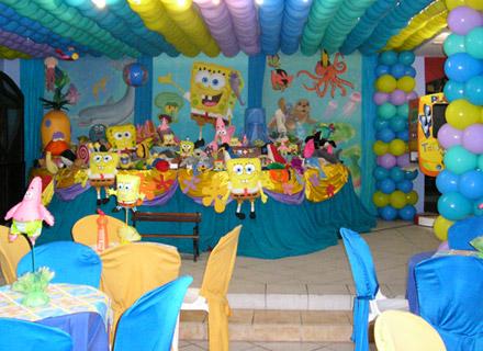 Decoración para fiestas con motivos de Bob Esponja | Fiesta101
