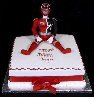002589 SPD Power Ranger model Birthday Cake