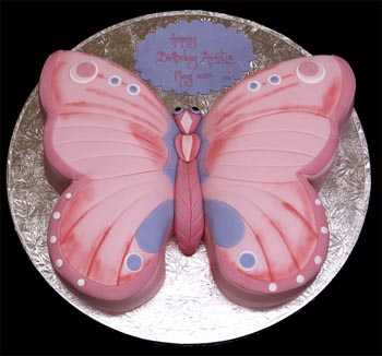 Butterfly Hand Cut Novelty Cake