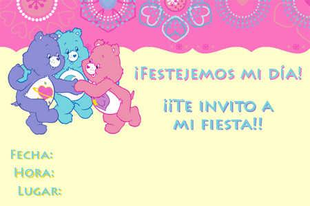 Lindas invitaciones infantiles de Los Cariñositos | Fiesta101