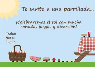 Invitaciones Para Tus Parrillas Y Picnics En Casa Fiesta101