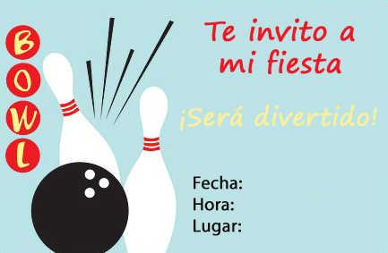 invitacion bowling