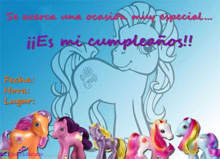 invitacion pequeño pony4