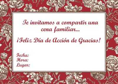 Invitaciones De Thanksgiving Para Imprimir Gratis Fiesta101