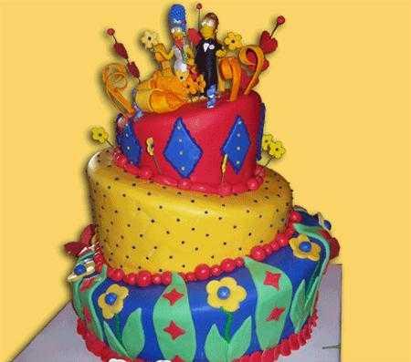 Modelos de tortas para fanáticos de Los Simpsons | Fiesta101