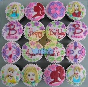 Barbie-cupcakes