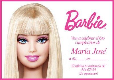 Modelos De Invitaciones Para Tu Fiesta De Barbie Fiesta101