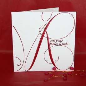 ruby,wedding,anniversary,invitation. Para las Bodas