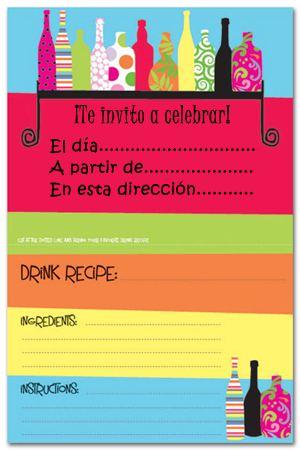 Invitaciones De Fiestas De Adultos Para Imprimir Gratis
