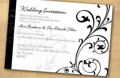 Nuevas invitaciones para boda Black and White