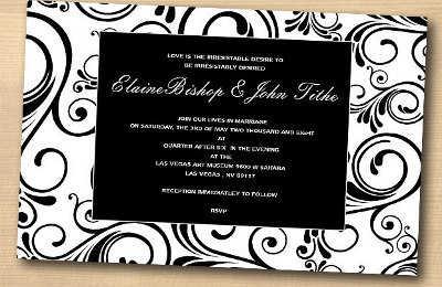 Nuevas Invitaciones Para Boda Black And White Fiesta101
