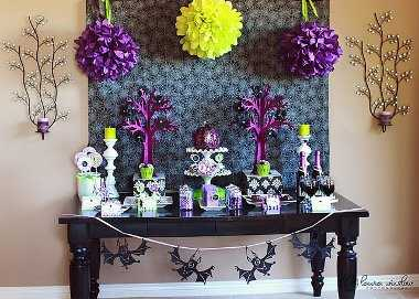 decoracion-halloween-verde-fucsia