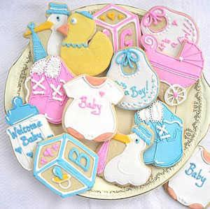 Recuerdos para baby shower en galletas y chocolates for Preparativos para baby shower