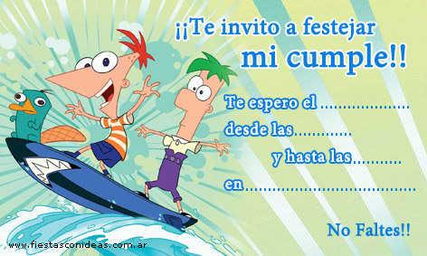 Invitaciones Para Imprimir De Phineas Y Ferb Fiesta101