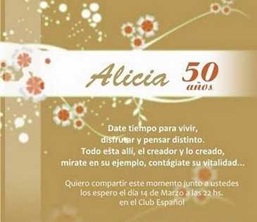 DE INVITACION PARA 50 ANOS
