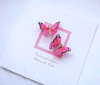 Modelos de tarjetas de mariposa para boda