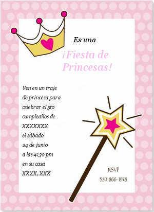 Invitaciones Para Una Fiesta De Princesas Fiesta101