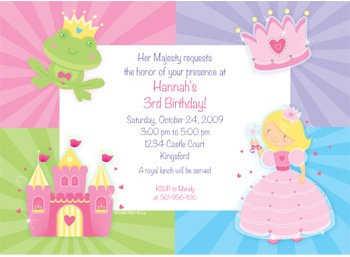 Invitaciones para una fiesta de princesas