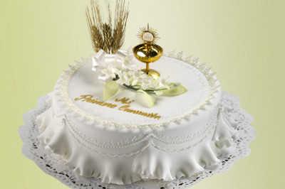 Pasteles de primera comunion para niña