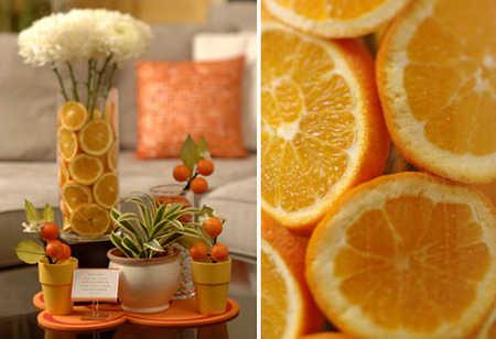 Decoración con frutas para fiestas