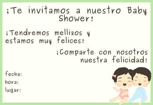Baby Shower De Gemelos Invitaciones Para Imprimir Gratis