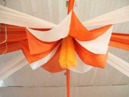 Decoraci n con telas para fiestas fiesta101 for Telas de toldos por metros