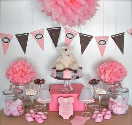 Decoración para un baby shower de niña | Fiesta101