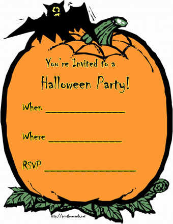 Halloween Potluck Invite