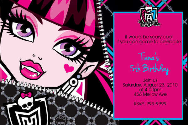 Monster High Party Invitations Printable with amazing invitations ideas