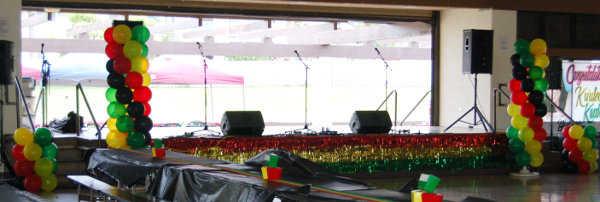 Globos de los colores característicos de la cultura reggae ¡Excelente idea!