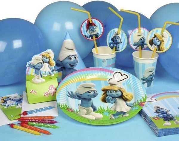 Fiesta Infantil Estilo Pitufos Un Dia De Diversion Azul Fiesta101
