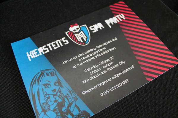 """Las más lindas invitaciones para tu fiesta con temática """"Monster High"""""""