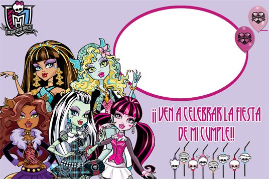 Las más lindas invitaciones para tu fiesta Monster High! | Fiesta101
