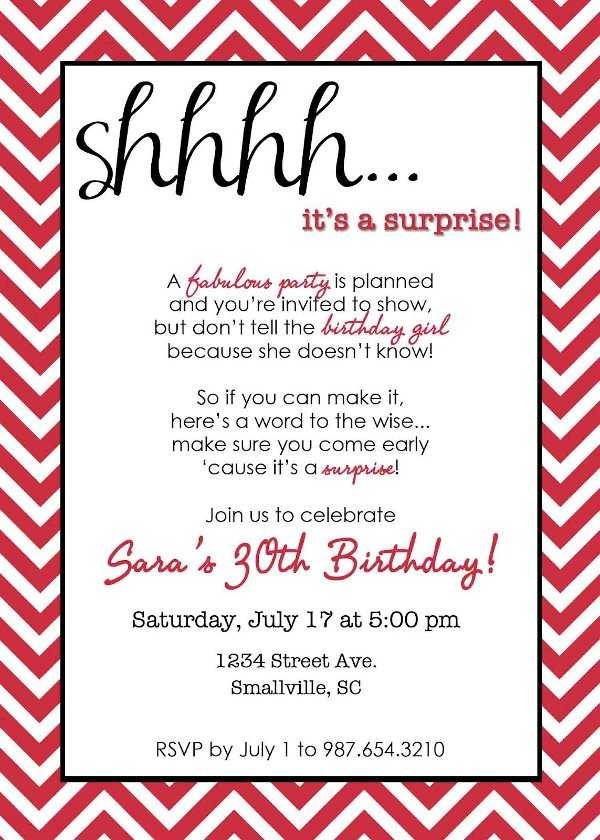 Recuerda especificar en la invitación que es la fiesta es sorpresa