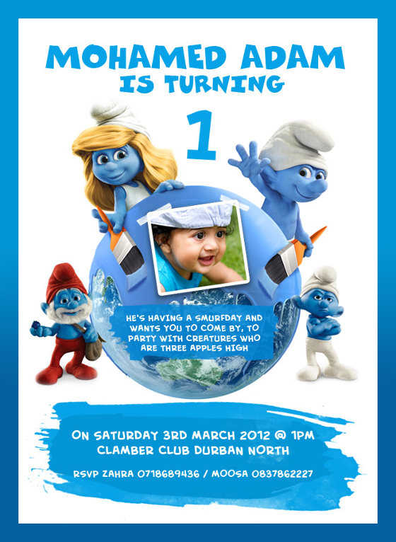 Smurfs Invitations as perfect invitations template