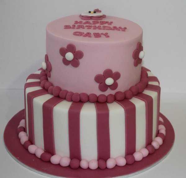Pasteles De Cumpleanos Para Nina's Color Rosa