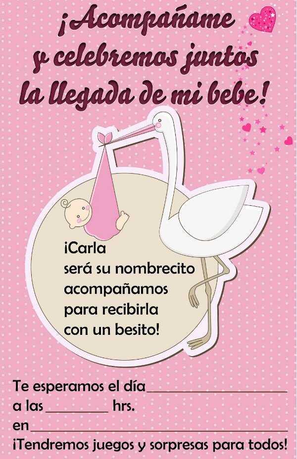 Lindas invitaciones para tu baby shower | Fiesta101