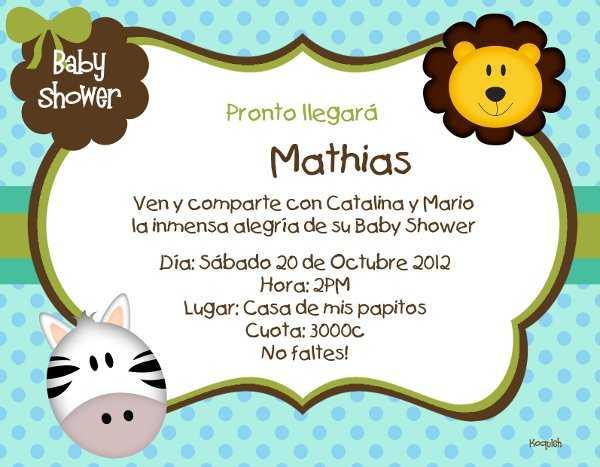 Lindas Invitaciones Para Tu Baby Shower Fiesta101