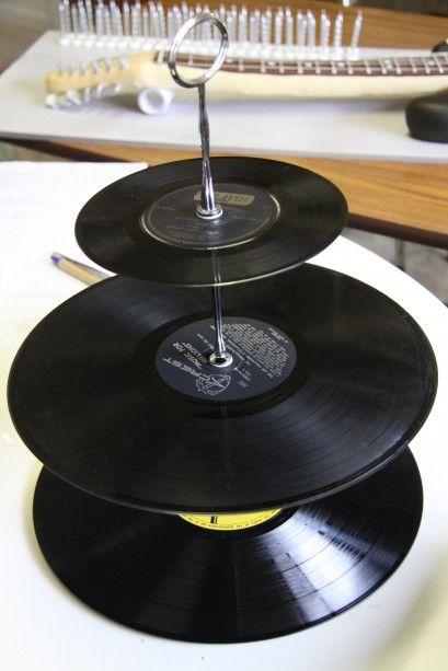 rock vinyl cupcake